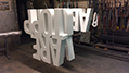 Freestanding Metal Letters with Artificial Grass