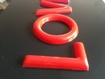 Red 3D Sign Letters - Moulded letters, Shop Signs, School Signs and more