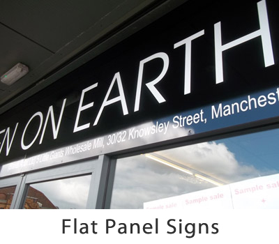 Flat Panel Signs Gallery