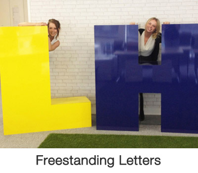 Freestanding Letters