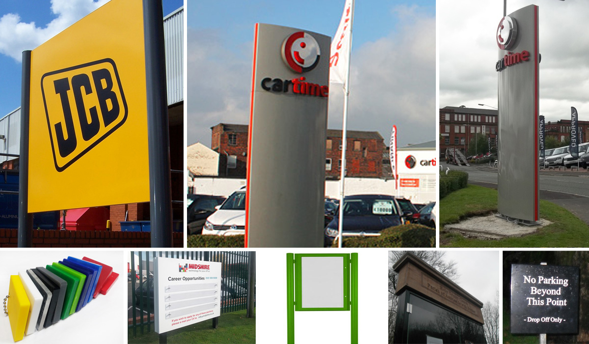 Pole Signs and Totem Poles from UK Sign Warehouse