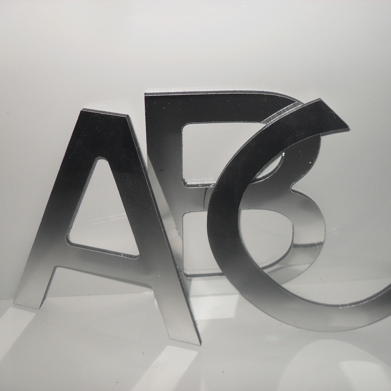 200mm flat cut stainless steel letters